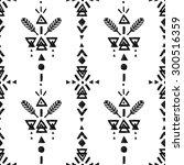 tribal hand drawn background ... | Shutterstock . vector #300516359