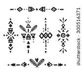 tribal hand drawn elements ... | Shutterstock . vector #300516371