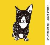 cat doodle drawing | Shutterstock .eps vector #300519854