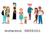 different people's characters | Shutterstock .eps vector #300531311