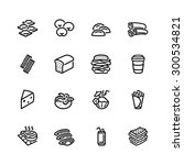 food icon set | Shutterstock .eps vector #300534821