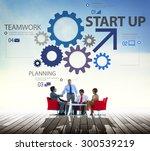 startup goals growth success... | Shutterstock . vector #300539219