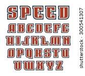 serif font bold in geometric... | Shutterstock .eps vector #300541307