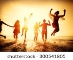 friendship freedom beach summer ... | Shutterstock . vector #300541805