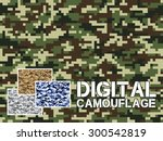 four different colors digital... | Shutterstock .eps vector #300542819