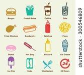 fast food elements  vector... | Shutterstock .eps vector #300546809