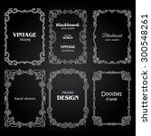 vintage photo frames set ...   Shutterstock .eps vector #300548261