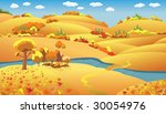 autumn landscape  trees and...   Shutterstock . vector #30054976