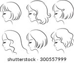 beauty hair style | Shutterstock .eps vector #300557999