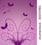 violet buterflies | Shutterstock . vector #30055981