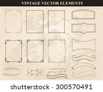 decorative vintage frames and...   Shutterstock .eps vector #300570491