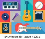 musical instruments   Shutterstock .eps vector #300571211