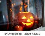 Symbol Of Halloween In Window
