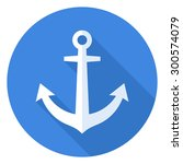 anchor icon  modern minimal... | Shutterstock .eps vector #300574079