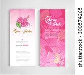 set of vintage wedding cards... | Shutterstock .eps vector #300574265