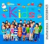 kids imagination handwriting... | Shutterstock . vector #300588425