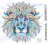 patterned head of the lion on... | Shutterstock .eps vector #300589577