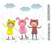 illustration of kids wearing... | Shutterstock .eps vector #300590549