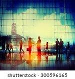 business people handshake... | Shutterstock . vector #300596165