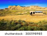 old ranch at desert landscape.... | Shutterstock . vector #300598985