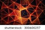 futuristic glowing orange... | Shutterstock . vector #300600257