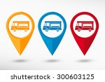 food truck icon  map pointer ... | Shutterstock .eps vector #300603125