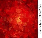 Red Abstract Polygon Pattern...