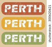 perth on colored background | Shutterstock .eps vector #300620621