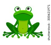 cute frog cartoon | Shutterstock .eps vector #300621971