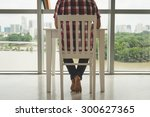 cropped image of man working at ... | Shutterstock . vector #300627365