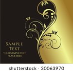 gold floral background | Shutterstock .eps vector #30063970