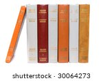 row of old vintage books... | Shutterstock . vector #30064273