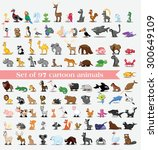 set of cute cartoon animals | Shutterstock .eps vector #300649109