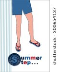 prepare for the beach    Shutterstock .eps vector #300654137