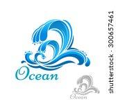 Blue Sea Wave Of Ocean Surf...