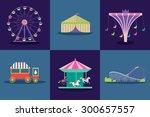 amusement park vector set.    Shutterstock .eps vector #300657557