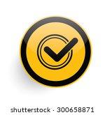 checking icon on yellow button...