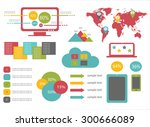 infographic elements for mobile ... | Shutterstock .eps vector #300666089