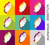 single flat style icon vector...   Shutterstock .eps vector #300677174