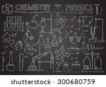 set of physical and chemical... | Shutterstock .eps vector #300680759
