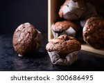 Chocolate Muffins With Nuts On...