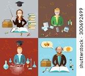 education concept teacher... | Shutterstock .eps vector #300692699