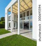 architecture  white modern... | Shutterstock . vector #300695594