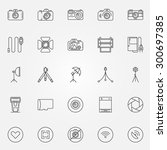 photography icons set   vector...