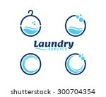 laundry and dry cleaning  icons | Shutterstock .eps vector #300704354
