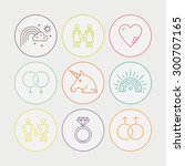 lgbt community symbols... | Shutterstock .eps vector #300707165