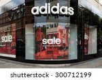 Small photo of LONDON, UNITED KINGDOM - JUNE 21, 2015: Adidas store. Adidas s a German multinational corporation that designs and manufactures sports clothing and accessories.