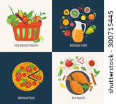 cooking infographic. menu cover ... | Shutterstock .eps vector #300715445