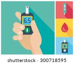 diabetes flat icon set   blood... | Shutterstock .eps vector #300718595