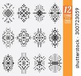 ethnic style tribal elements... | Shutterstock .eps vector #300723059